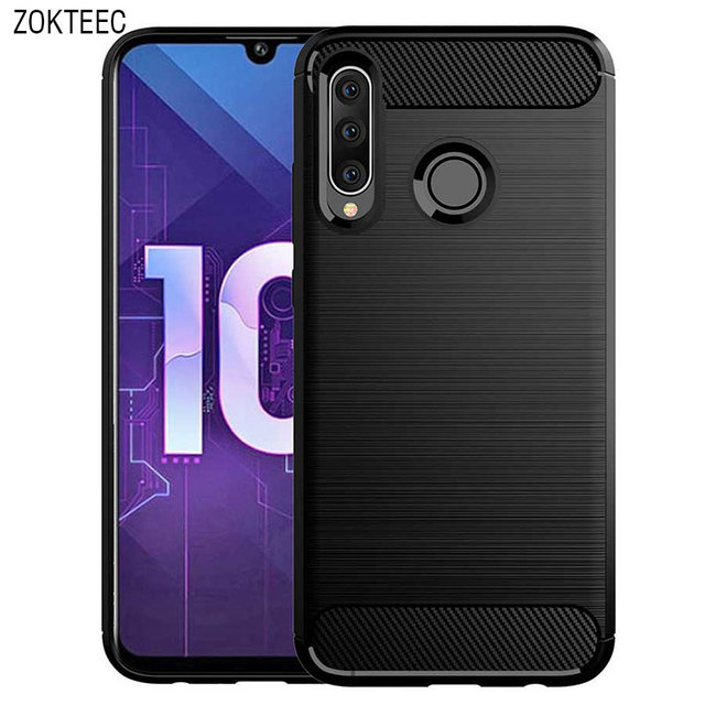 ZOKTEEC High quality luxury Case For OnePlus 6T Case Silicon TPU Carbon Fiber Soft business Silicone For Cover OnePlus 6 Case