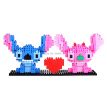 hot LegoINGlys creators Classic cartoon Point and Angie monster Alien mini micro diamond building blocks model bricks toys gifts