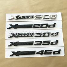 Full Glossy Black XDrive 20d 25d 30d 35d 40d 45d 50d 20i 25i 28i 30i 35i 40i 50i Fender Trunk Emblem Badge for BMW Car Sticker