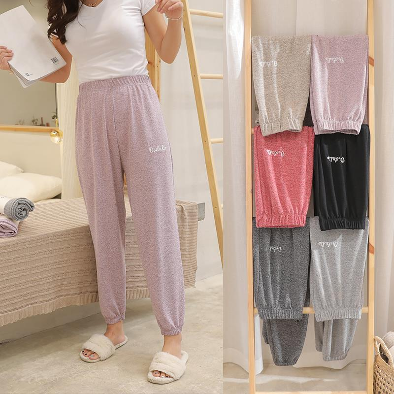 Spring Sleep Bottom Women Cotton Long Pant Home Pajamas Soft Slip Summer Pants  Big Size Casual 2020 New Fashion Sleepwear