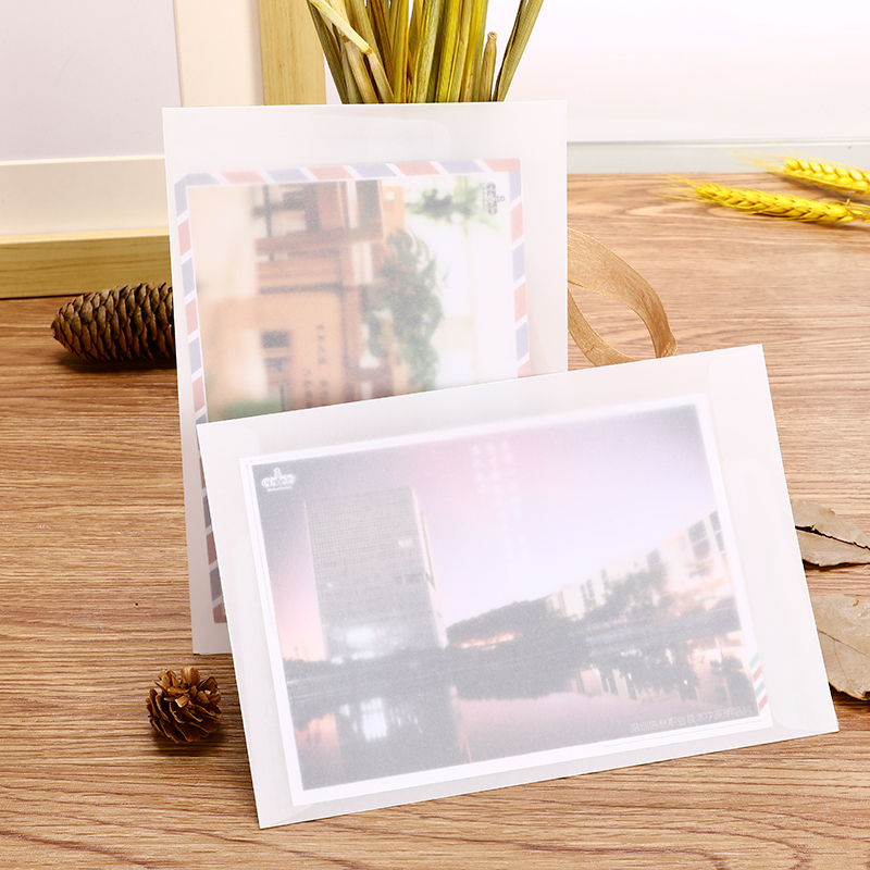 10Pcs/Lot Transparent Sulfuric Acid Paper Envelope B6 Cute Postcard Letter Envelope For School Office Stationary Supply Envelope