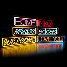Custom Love Sweet Welcome Music Love You Open Home LED Neon Sign Light Girl Home Decoration Shop Logo(China)