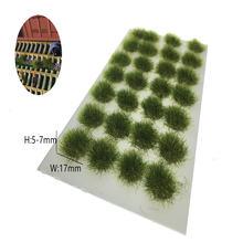28 шт/лот архитектура 5 мм флок Смешанная зеленая трава для