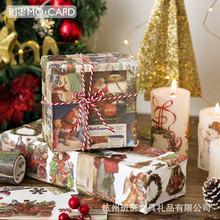 Ретро Декоративный Рождественский скотч декоративная лента для
