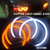 Hopstyling Dual Colore Wit + Geel Smd Led Angel Eyes Voor Bmw E36 E38 E39 E46 Projector Koplamp Katoen Licht fout Gratis