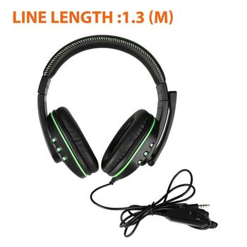 For PS4 Gaming Headset Stereo Sound Headphone 3.5mm Gaming Headset With Mic Volume Control For Nintendo Switch/Xbox One/PC/Phone 5