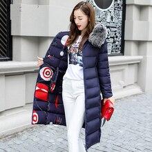 купить Down Reversible Jacket Woman Hooded Fur Collar Long Parka Down Jacket Women Winter Down Coat Winter Oversize Doudoune Coat дешево