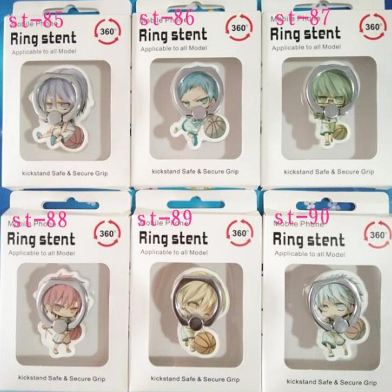 1 Pcs Universal Anime Kuroko Basketball Finger Ring Mobile Phone Stand Phone Holder Acrylic 360 Degree Ring Stent Figure Toys