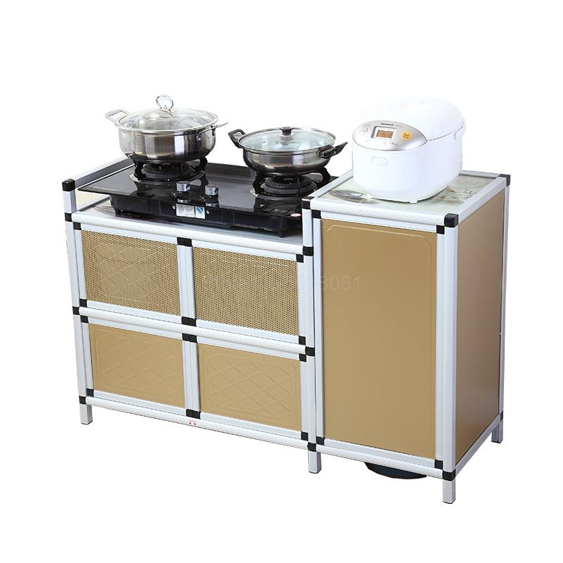 Kitchen Cabinet Gas Stove Shelf Aluminum Cupboard Household Simple Gas Stove Cabinet Stove Rack Gas Tank Cabinet Aliexpress