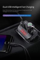fm tf Car Charger with FM Transmitter Bluetooth Receiver Audio MP3 Player TF Card U-disk Car Kit Dual USB Car Phone Fast Charger (5)