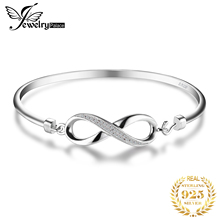 JewelryPalace Forever Love Infinity Anniversary Bangle Bracelet 925 Sterling Silver Jewelry Wedding  Fashion For Woman