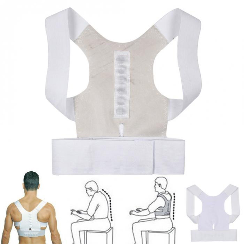 Magnetic Posture Corrector Corset Back Correction Shoulder Brace Lumbar Support Straight Pain Relief for Child Adult Unisex