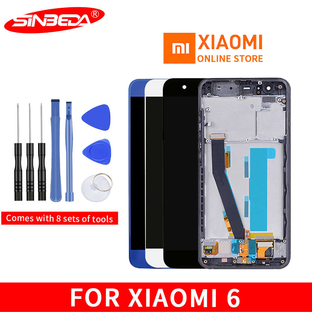 "5.15""LCD For XIAOMI Mi6 LCD Display Touch Screen with Frame Digitizer Fingerprint Sensor For Xiaomi Mi 6 LCD Display Mi6 Display"