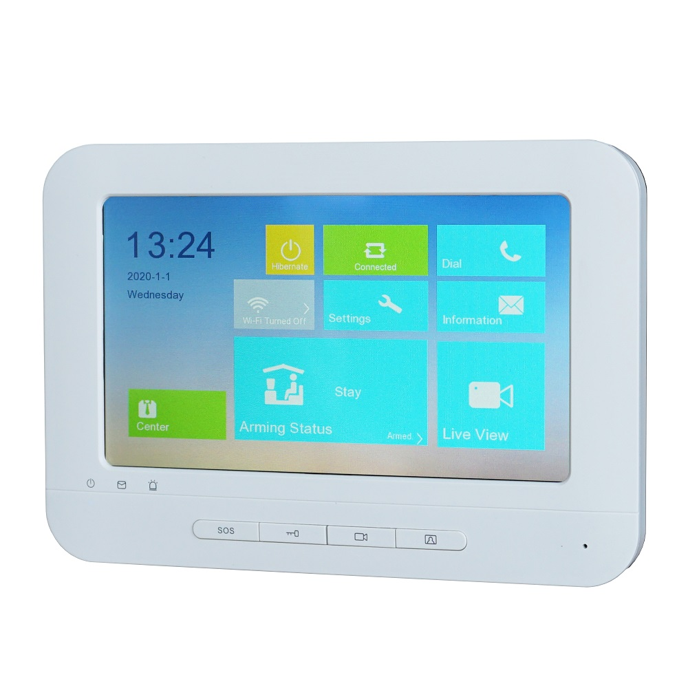 Hik Multi-language DS-KH1310-AL Touch Indoor Monitor,phone App P2P, IP Doorbell Monitor, Video Intercom Monitor,build-in WiFi