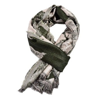 Fashion Snake Skin Flower Pattern Scarf Men Cool Fringe Cotton Viscose Scarf Casual Warm Long Shawl Winter Muffler 95x190cm men s long soft knitting wool scarf classic shawl winter warm fringe striped tassel scarf