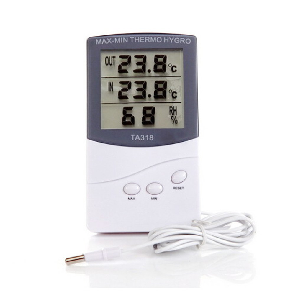 Digital Thermometer Hygrometer/waterproof Outdoor Temperature Humidity Meter Electronic Weather Station With Sensors