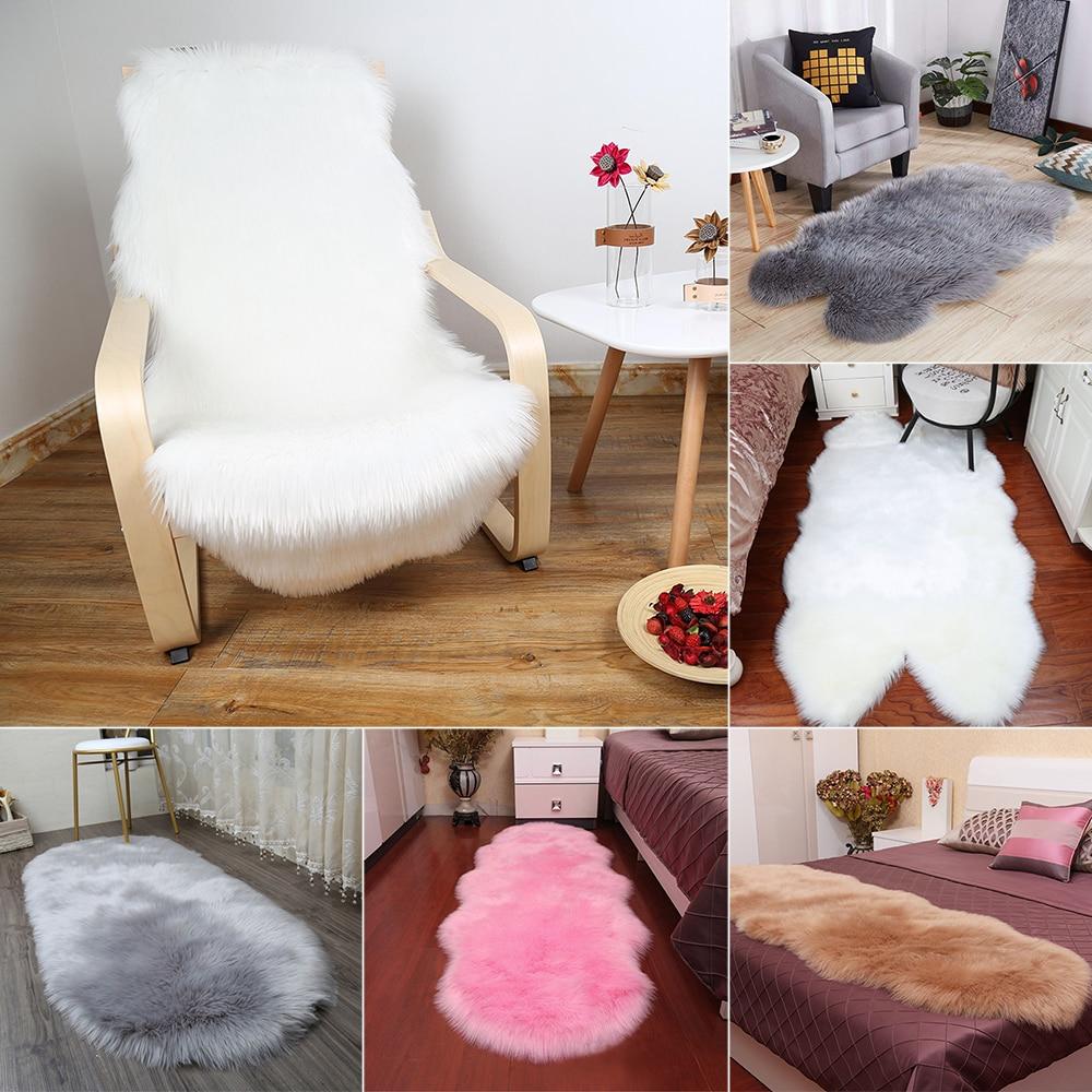 Floor Mat Pad Skin Fur Rugs Soft
