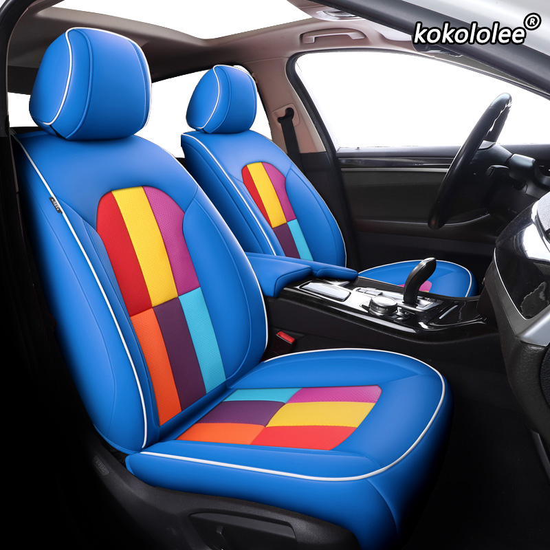 2003-Date Waterproof Seat Covers With Blue Top To Fit Renault Kangoo Car