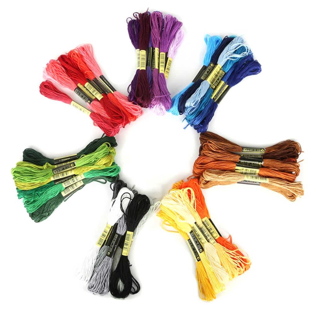 متعدد الألوان 8 قطعة مماثلة DMC الموضوع عبر غرزة القطن الخياطة Skeins التطريز الخيط عدة لتقوم بها بنفسك أدوات خياطة