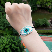 FAIRYWOO Miyuki Bead Bracelet Woman Bohemia Jewelry Evil Eye Charm Bracelet Articles Religieux Catholiques Bracelet With Crystal