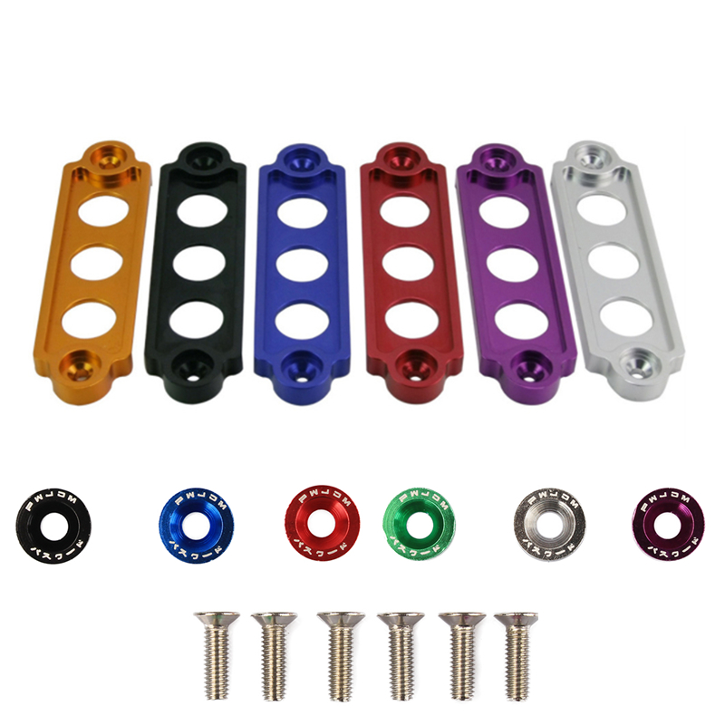 Car Racing Battery Tie Down Hold Bracket Car Modified Aluminum Battery Rack Buckle Anodized For JDM Car Accessory Dfdf