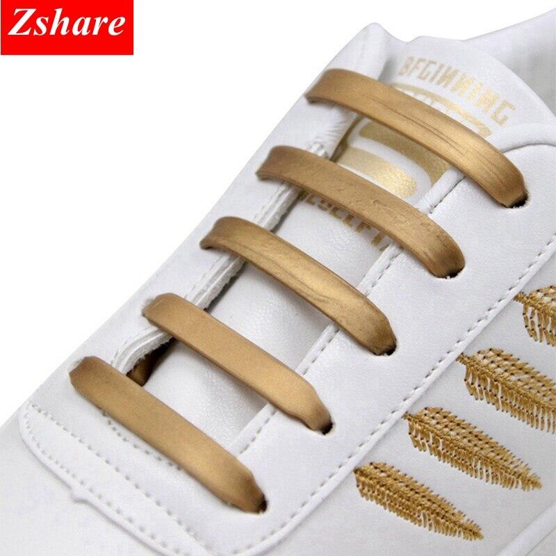 12pcs/16pcs Silicone Shoelaces Elastic No Tie Shoe Laces Kids Adult Fashion Hammer Type Running Sneakers Shoelace Lazy Laces