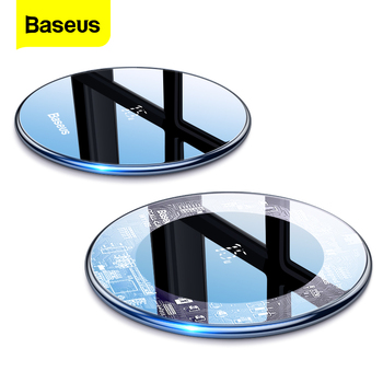Baseus 15W Qi Wireless Charger for iPhone 11 Pro Xs Max X 8 Induction Fast Wireless Charging Pad for Samsung S20 Huawei Xiaomi 9 baseus 15w qi wireless charger stand qi fast charge phone stand multifunctional wireless charging pad for iphone 11 pro samsung