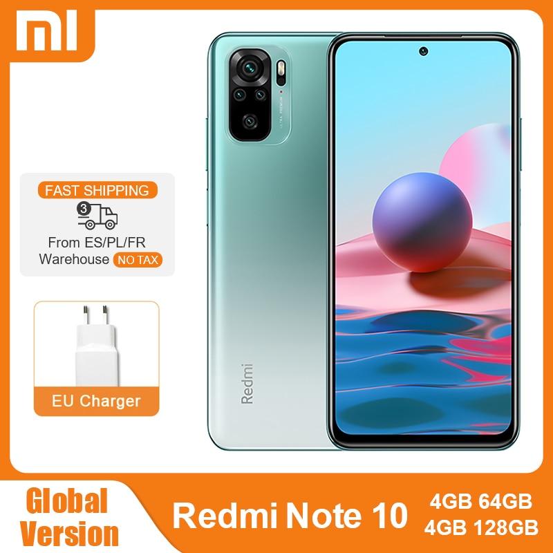 "Global Version Xiaomi Redmi Note 10 4GB 64GB / 128GB Mobile Phone Snapdragon 678 6.43"" AMOLED Display 48MP Quad Camera 5000mAh Cellphones  - AliExpress"