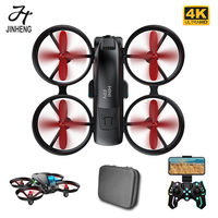 JINHENG-Mini Dron KF615 4K, cámara Dual de HD, 2,4G, Wifi, Fpv, posicionamiento de flujo óptico, luz fría, tiro, RC, Qudacopter, regalo para niños