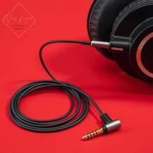 Câble Audio Hifi Occ pour casque Audio Technica ATH M50x M40x M70x M60X, prises 2.5mm 4.4mm, microphone à distance Vol 3.5mm