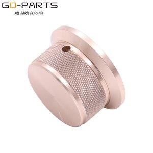 Image 5 - 50x25mm Bearbeitete Solide Voll Aluminium Volumen POTENTIOMETER KNOPF Sound Control Kappe 6mm Loch Audio DIY Schwarz silber Goldene 1PC