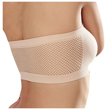 Strapless Bra Top Tube-Tops Bandeau-Tube White/skin Womens Removable-Pads Intimates One-Piece