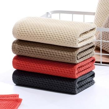 1PC Absorbent Towel Adult Cotton Towel Microfiber Soft Towel Facial Care Bathroom Towel Sports Bath Honeycomb Household Towel