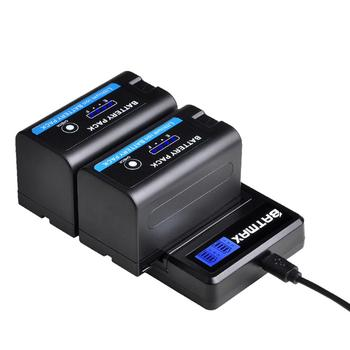 4pcs 7 2v 7200mah np f960 f970 power display battery 1 ultra fast 3x faster dual charger for sony f930 f950 f770 f570 ccd rv100 5200mAh LED Indicator NP F750 NP F770 NP-F750 Battery Akku + LCD USB Charger for Sony NP F970 F960 F550 F570 QM91D CCD-RV100