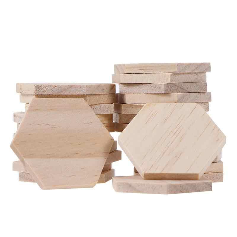 25 قطعة خشبية مسدس شرائح فارغة اسم الكلمات مع حفرة لاصقات تعريف للهدايا للحزب لوازم ديكورات زفاف للمنزل (5 سنتيمتر)