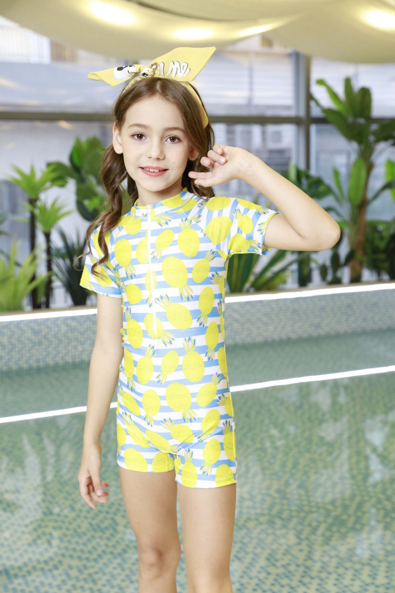 2019 New Style Girls' One-piece Swim Wears Cute Swimming Training Clothing