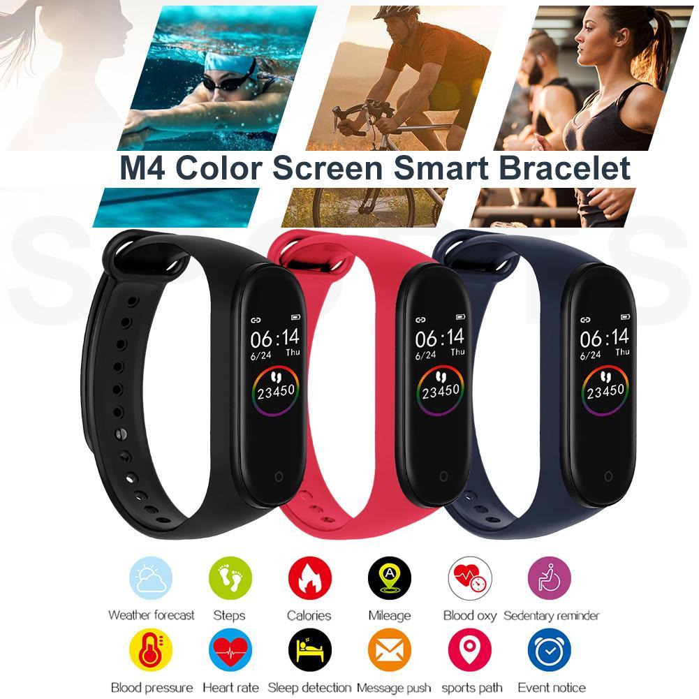 Sport Watch Heart Rate Blood Pressure Sleep Monitoring Color Screen Waterproof Blood Oxygen Wrist Bracelet For M4 Smart Bracelet