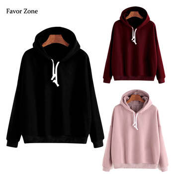 Solid Color Simple Women's Hoodies Autumn Winter Warm Fleece Women Hooded Sweatshirt Long Sleeve Casual Pullover Tops Clothing women solid color plush hooded sweatshirt autumn winter long sleeve loose warm hoodies coat pockets casual fashion outwear tops
