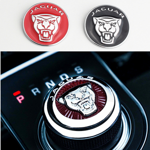 Image 1 - 1pc Car Gear Shift Knob Interior Emblem Decals for Jaguar Logo F PACE XE XF XJ XEL XFL Car Styling Sticker Auto Accessories