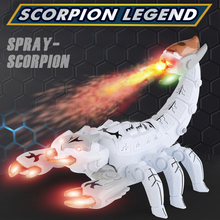 2021 Brand New Spray Electric ScorpionToys With Colored Lights And Music For Children Kid As Gift Take The Original Box