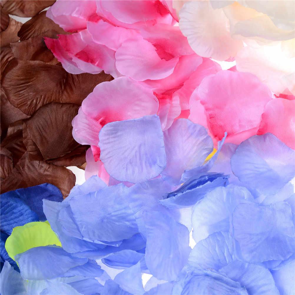100 unidades/pacote Novo Tecido De Seda Pétalas de Rosa Confetti Evento Menina Sorteio Pétala Dia Dos Namorados Festa de Casamento Decoração de Festa de Casamento dispersão