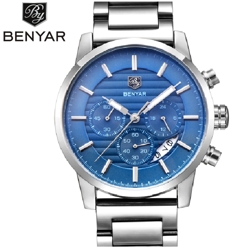 <font><b>BENYAR</b></font> 316s Watches Men Luxury Brand Quartz Watch Fashion Chronograph Watch Reloj Hombre Sport Clock Male Hour Relogio Masculino image