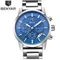 BENYAR 316s часы мужские роскошные брендовые кварцевые часы модные часы с хронографом Reloj Hombre спортивные часы мужские часы Relogio Masculino