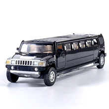 Alta simulazione 1:32 lega di limousine in metallo pressofuso modello di auto tirare indietro lampeggiante musicale giocattolo per bambini veicoli trasporto libero dei regali