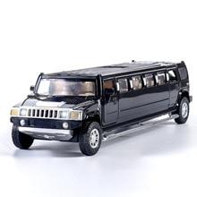 Wysoka symulacja 1:32 alloy limuzyna metal diecast model auta z napędem wstecznym miga muzyczne dzieci pojazdy zabawkowe prezenty darmowa wysyłka