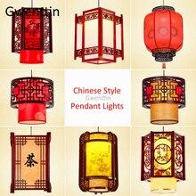 Китайский стиль, антикварные деревянные подвесные светильники, фонарь овечья шкура, подвесной светильник для гостиной, осветительные приборы, домашний декор, светильник