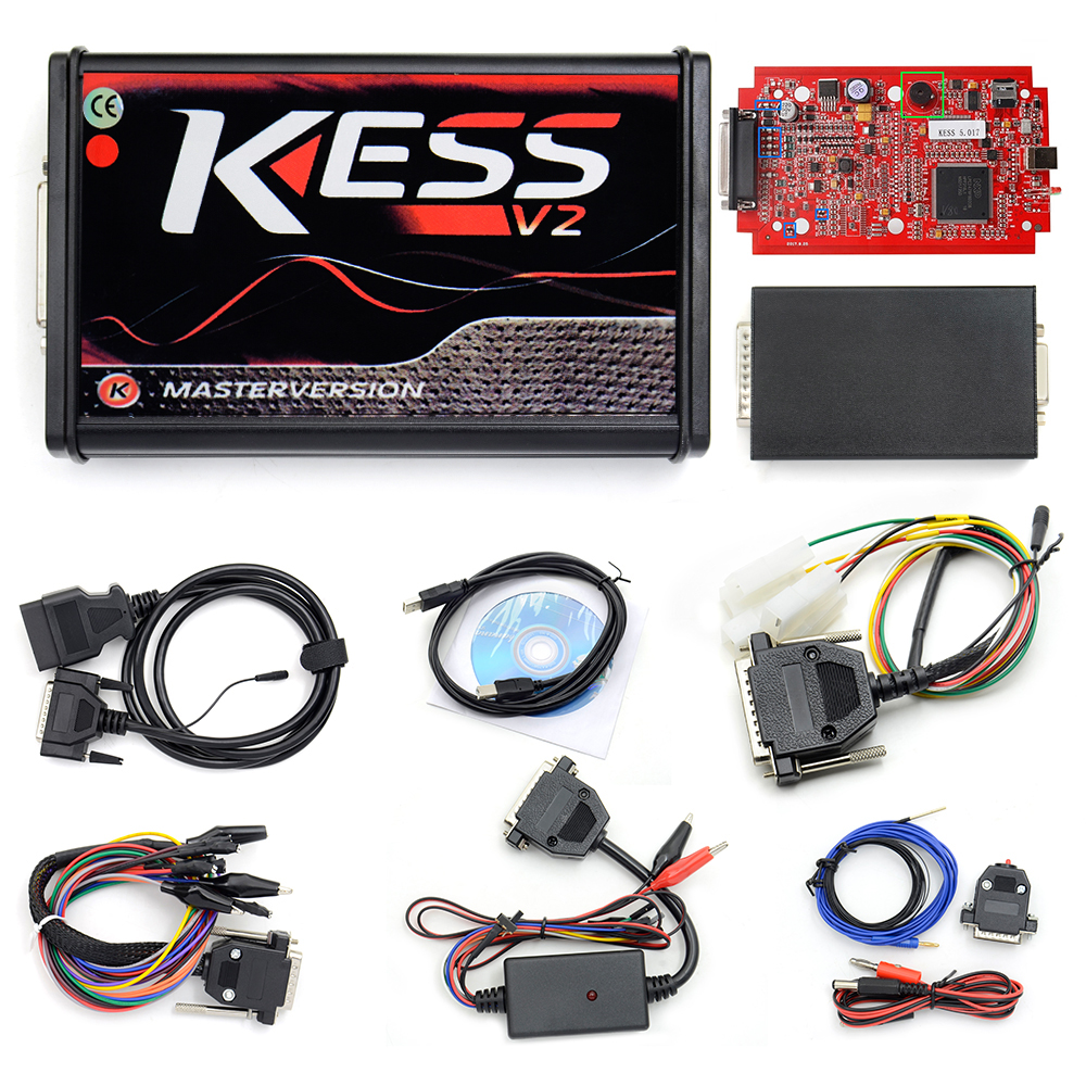 KESS V2 V2.47 V5.017 KTAG V2.25 V7.020 4 LED EU Rot ECM Diagnose-Tool Online Master Version ECU Programmierer werkzeug für auto/lkw