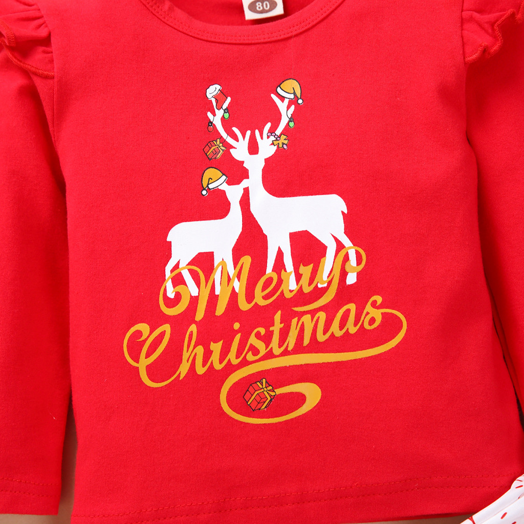Baby Christmas Deer Outfits Set