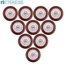 Retekess 10pcs Restaurant Call Button Waiter Table Transmitter Wireless Waterproof Call Pager For Cafe Bar Hotel 433.92 MHzF3360