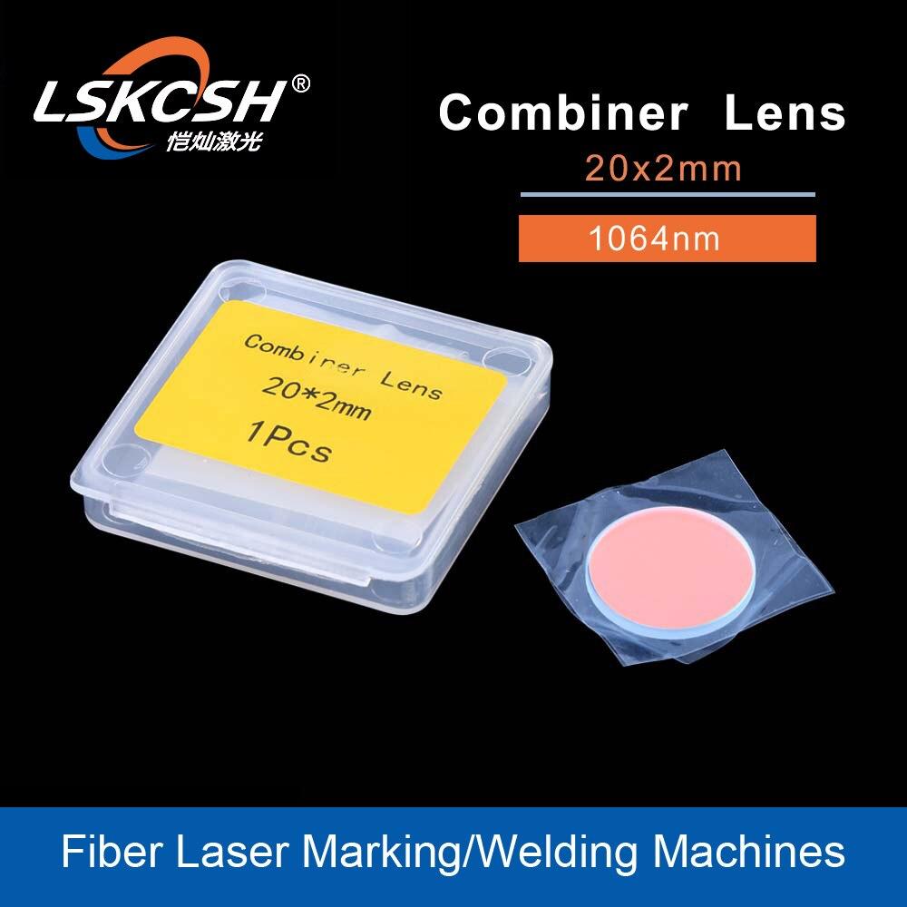 Lskcsh alta qualidade fibra laser feixe combinador lente 20*2mm laser óptica para máquinas de marcação a laser de fibra fábrica atacado